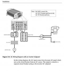 Xantrex XM1000 Inverter AC Out Breaker (Outlaw 29H) - Thor Forums | Xantrex Inverter Wiring Diagram |  | Thor Forums