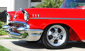 Click image for larger version  Name:Danchuk-Red-57-Chevy-Belair-American-Racing-Hopster-Wheels-Front-Fender-Stainless-Front-Bumper-H.jpg Views:92 Size:337.7 KB ID:19752