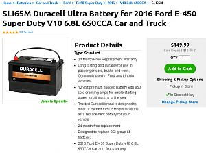Click image for larger version  Name:SLI65M Duracell Ultra Battery for 2016 Ford E-450.jpg Views:25 Size:121.4 KB ID:28922